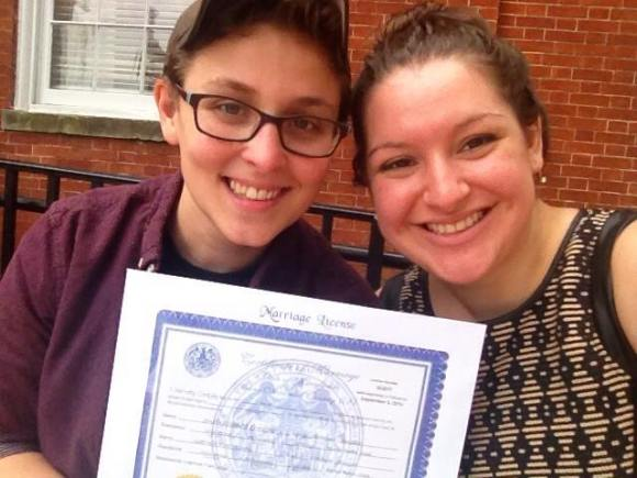 J & G get MarriageLicense